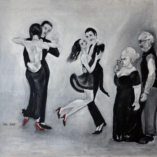 Lets Dance - Acryl auf Leinwand - 1x1m